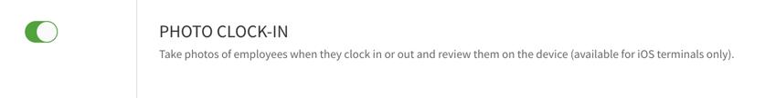Photo clock in toggle