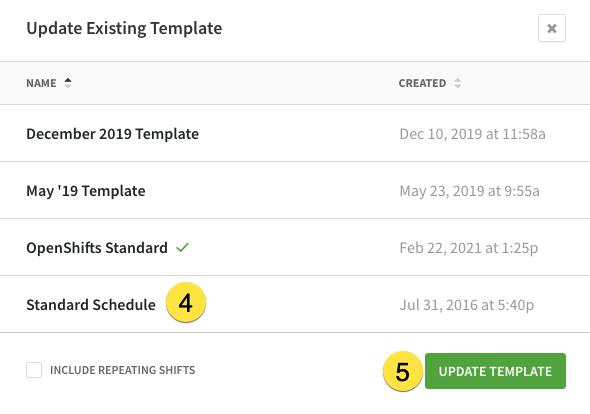 Update template