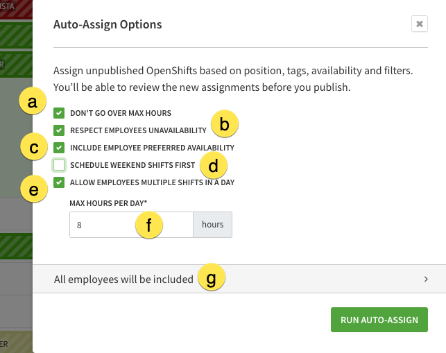 auto assign options