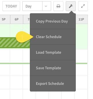 Clear Schedule