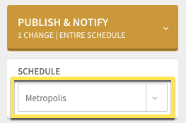 Schedule picker