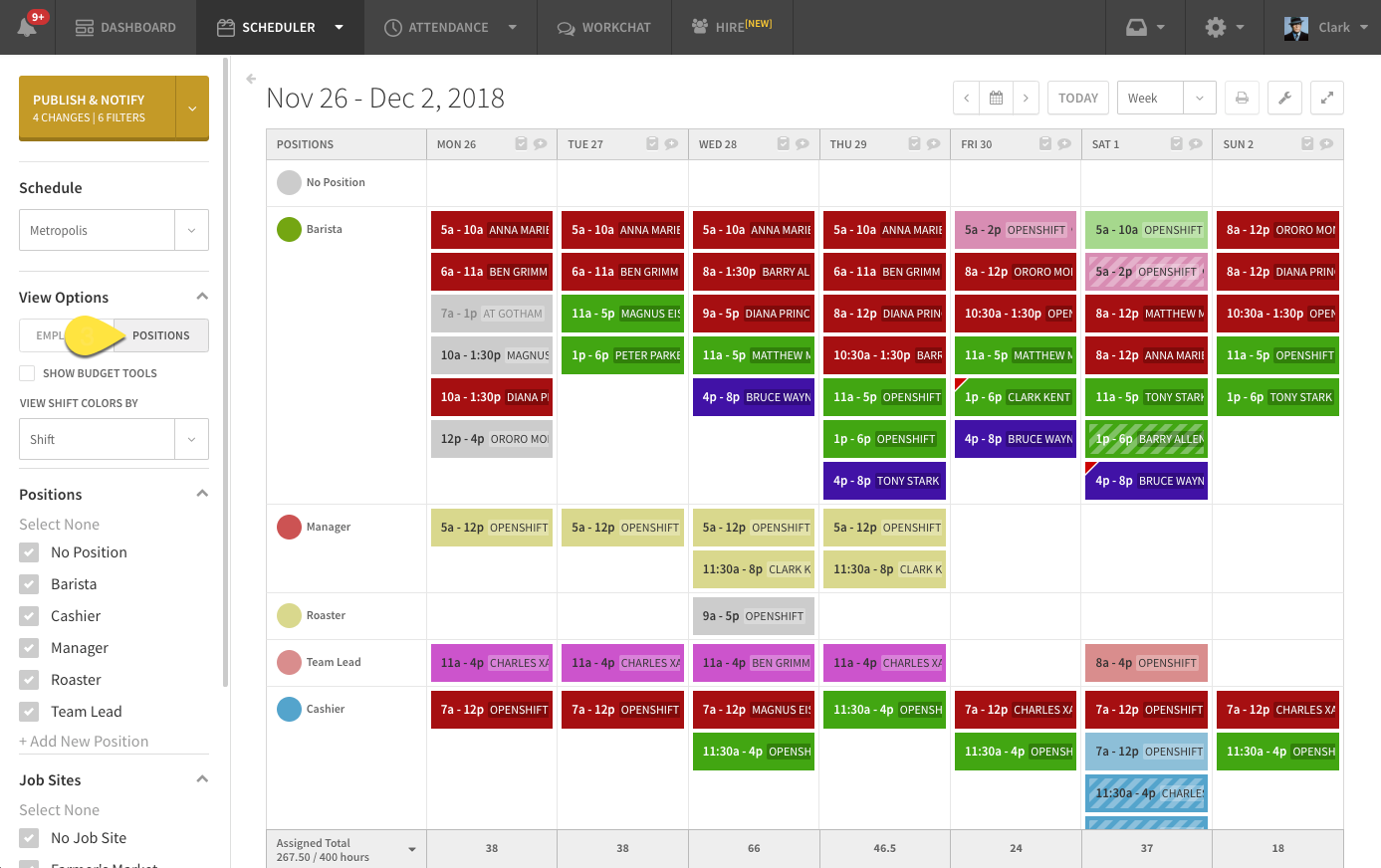 Scheduling An Openshift When I Work Help Center