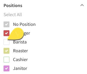 Single position filter