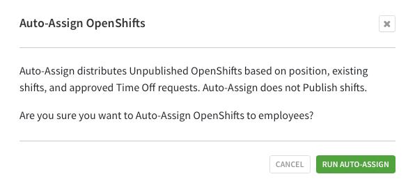 Run auto-assign message