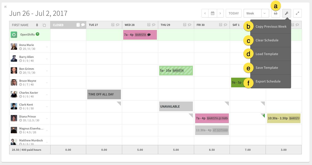 Scheduler tools