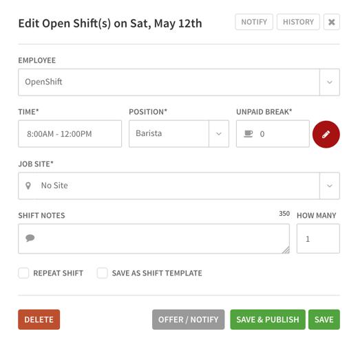 Edit OpenShift menu
