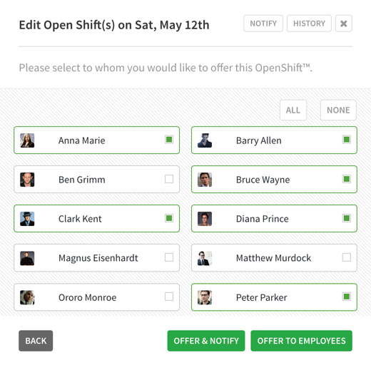 Offer OpenShift to specific employees