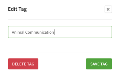 Edit tag dialog
