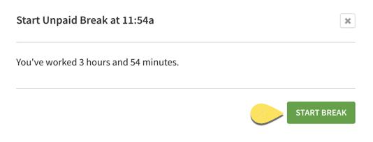 web terminal start break button