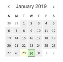 Time tracker calendar