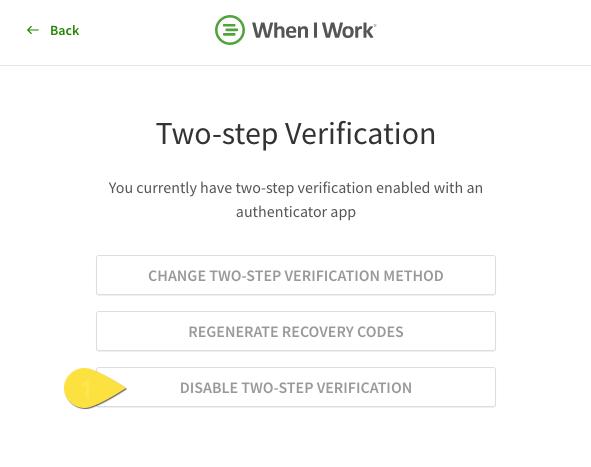 Disable verifcation