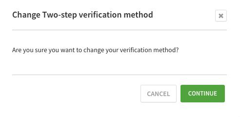 Verify method change