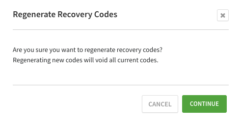 Confirm code regeneration