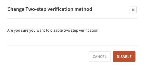Disable verification confirmation