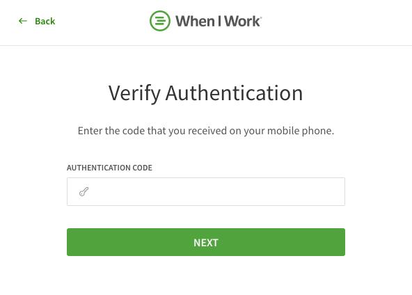 Enter authorization